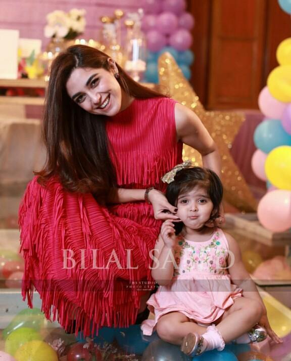Maya Ali Attends A Children's Birthday Party