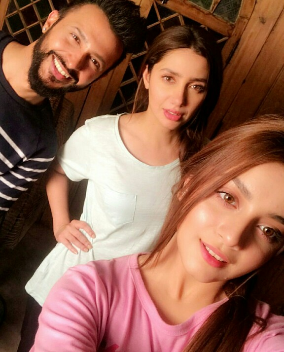 Mahira Khan Is The Spider Woman On The Sets Of Superstar