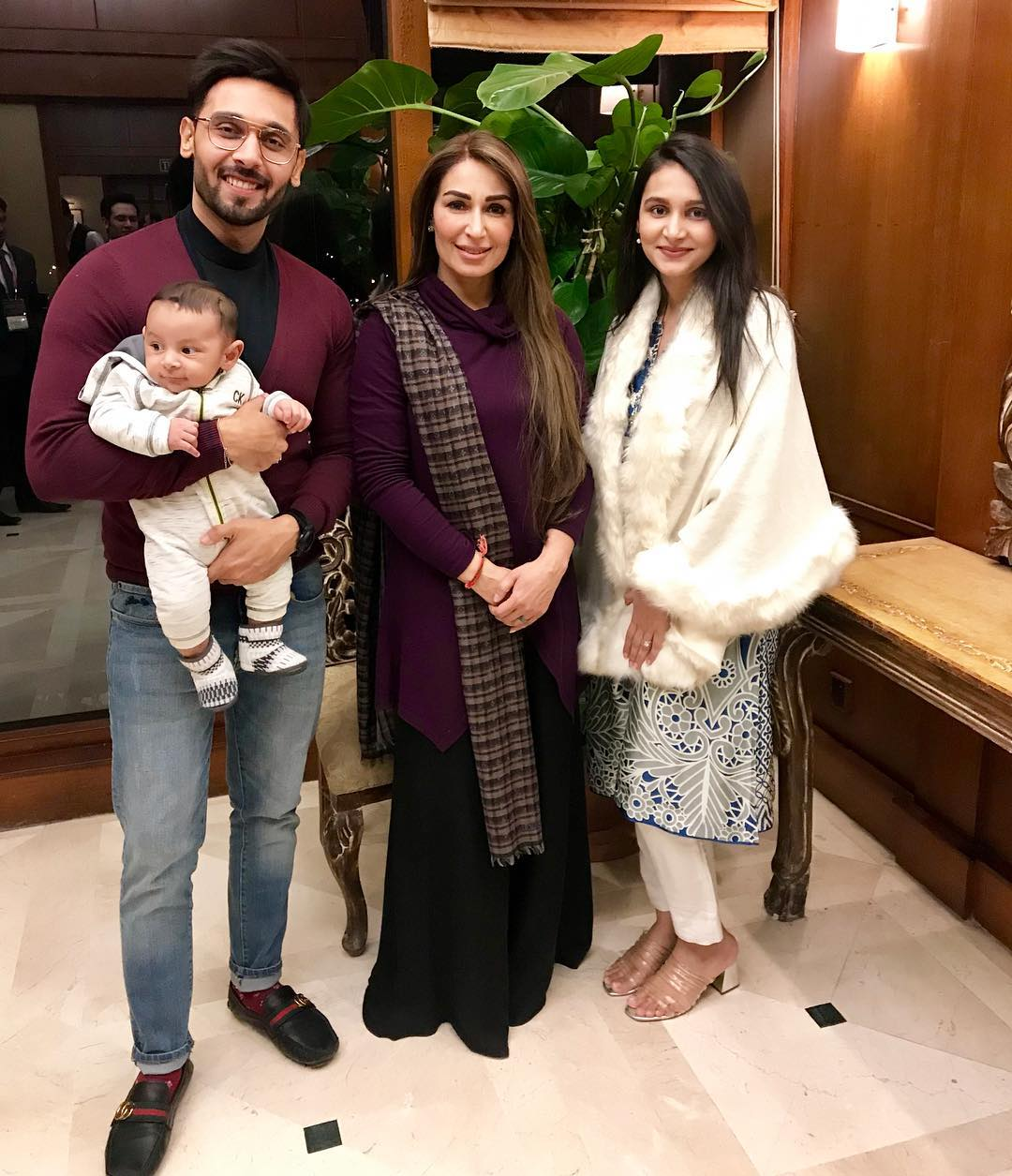 Beautiful Clicks of Anchor Abdullah Sultan with his Wife and Son