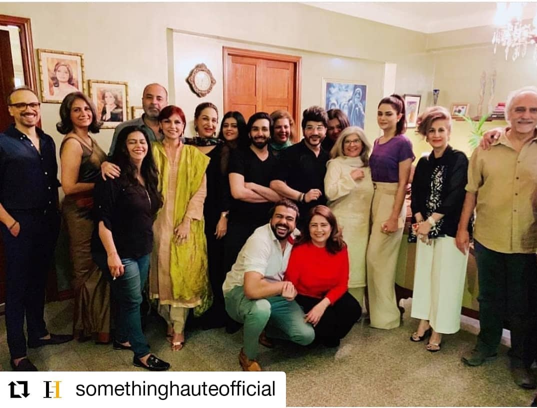 Pakistani Celebrities at Actress Atiqa Odho's Home for Dinner
