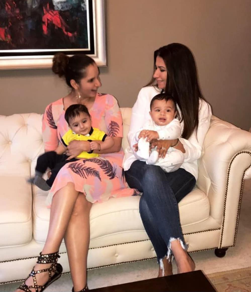 Latest Pictures of Tennis Star Sania Mirza with her Son Izhaan Mirza Malik