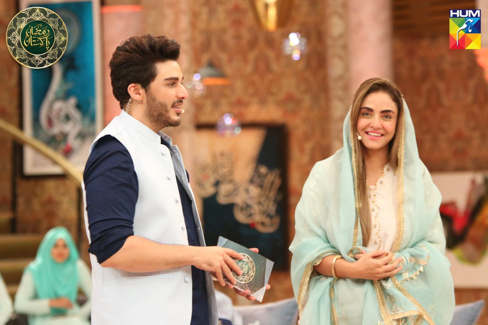Beautiful Nadia Khan in Today's Ramzan Pakistan Transmission