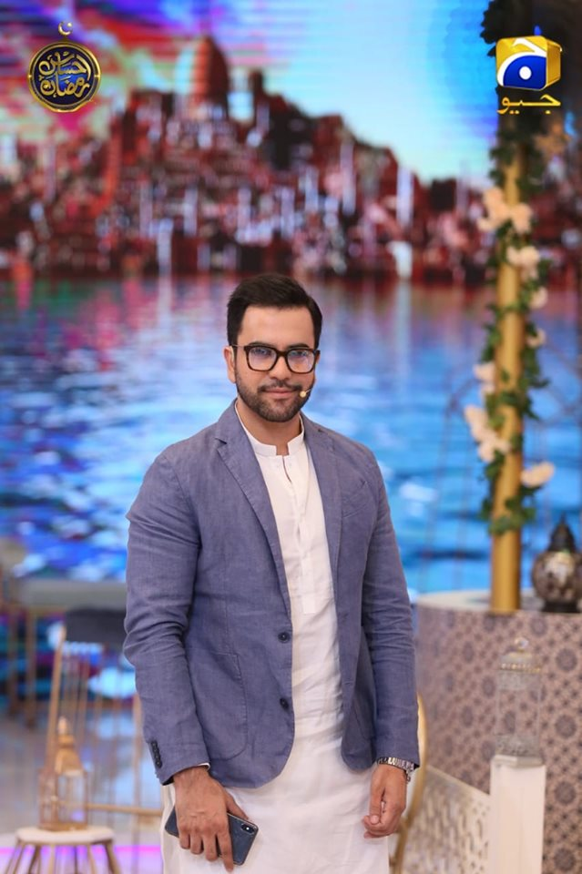 Handsome Junaid Khan in Today's Ehsaas Ramzan Transmission