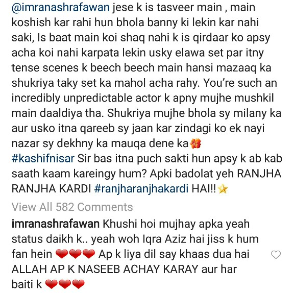 Iqra Aziz Thanks Co-Stars After Unfollowing Them