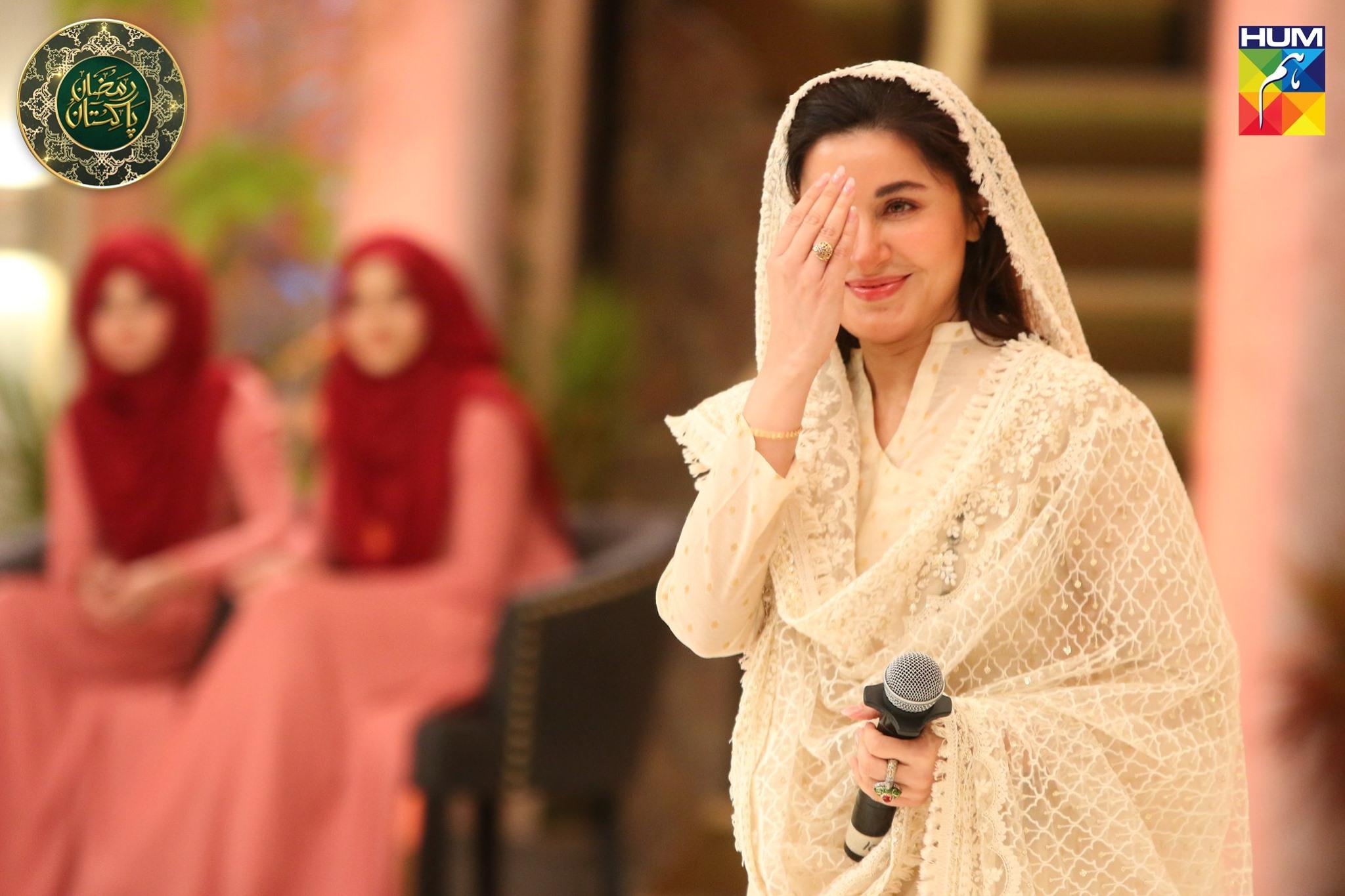 Beautiful Shaista Lodhi Appeared in Ramzan Pakistan Transmission on Humtv