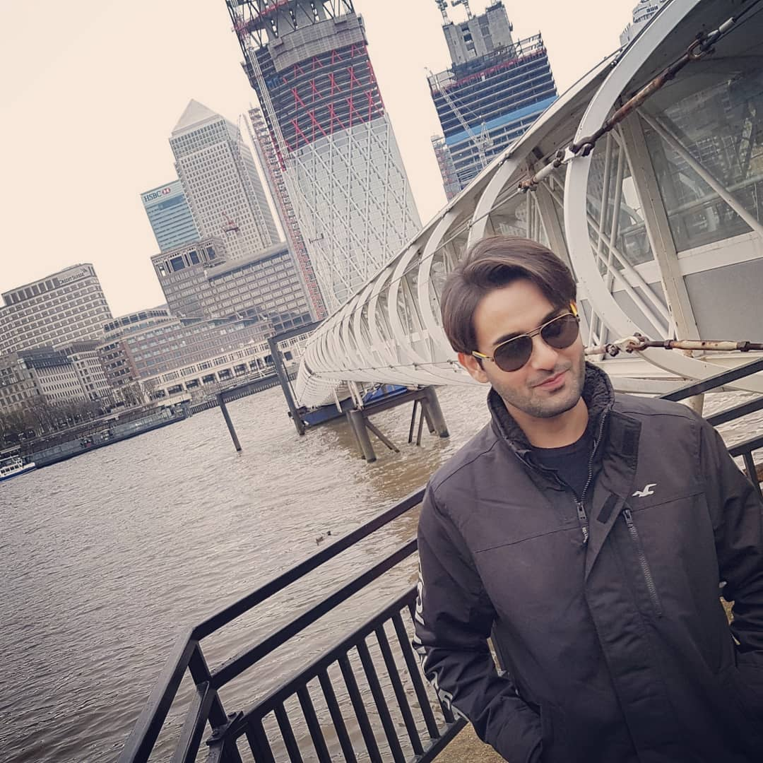 Latest Pictures of Handsome Actor Affan Waheed in London