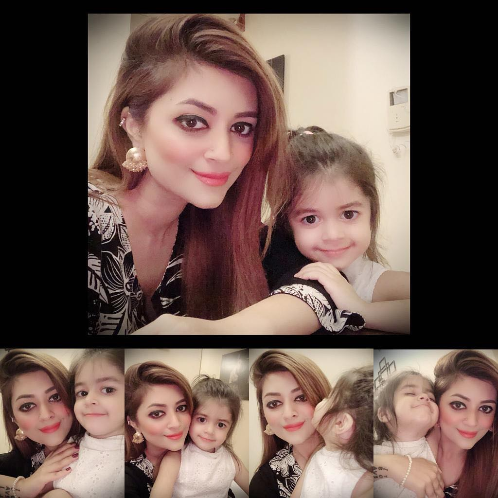 Actor Syed Jibran with his Wife Afifa Celebrating Birthday of their Cute Daughter Eva Jibran