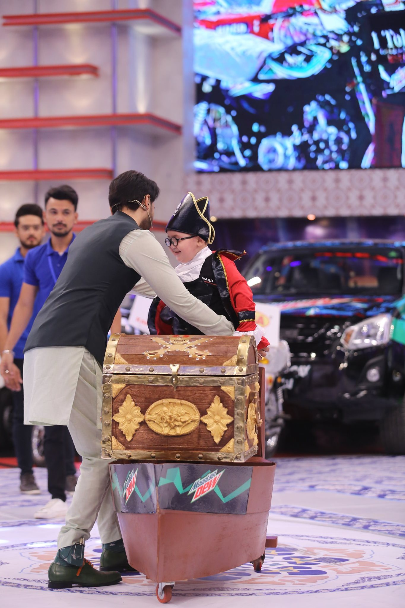 Cute Baby Ahmed Shah as a Pirate in Jeeto Pakistan
