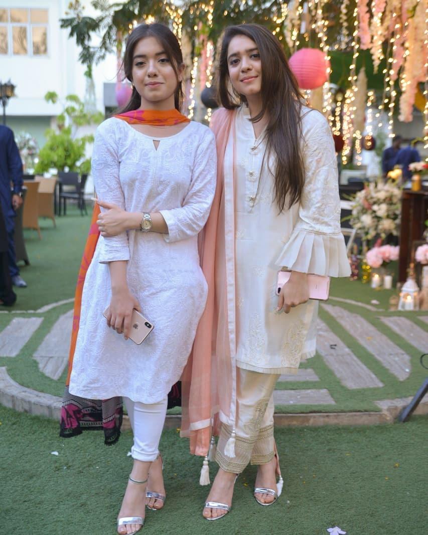 Beautiful Sisters Arisha Razi & Sarah Razi at Recent White Iftar Party
