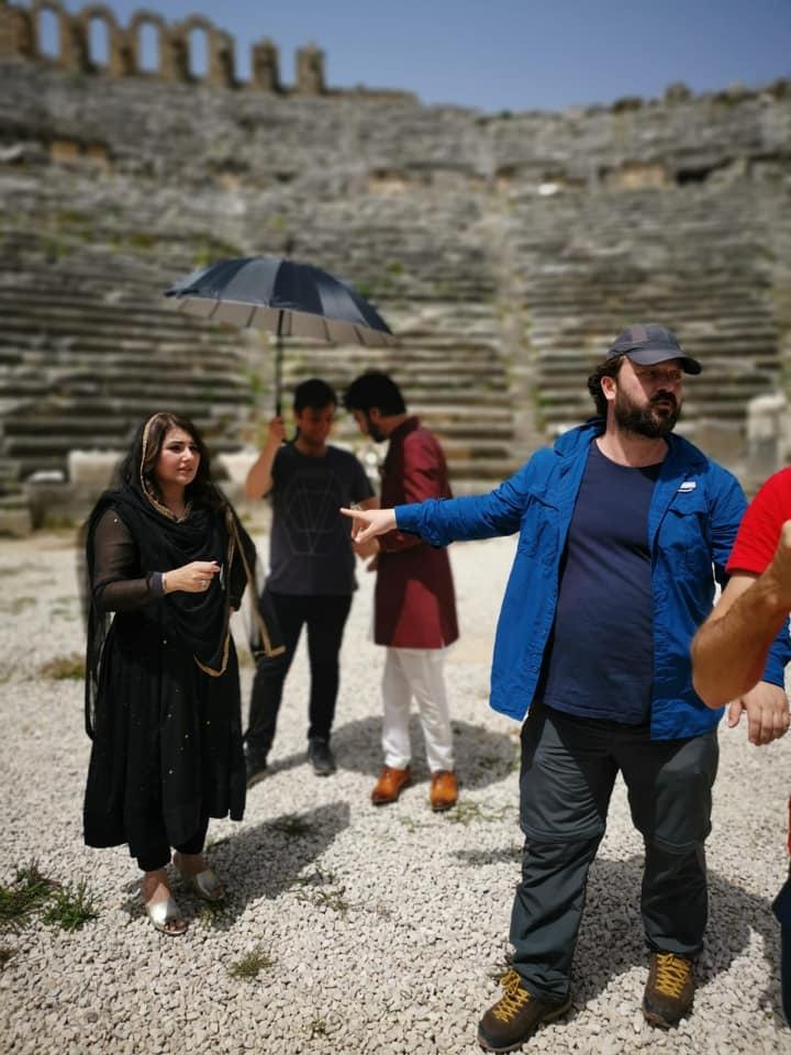 Actors Javeria Saud and Imran Abbas at the Recording of Ramazan Transmission OST in Antalya Turkey