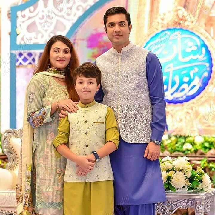 Iqrar ul Hassan with his Wife Celebrated their Son Pehlaaj First Roza Kushai