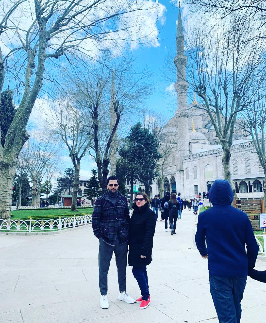 Junaid Khan's Latest Pictures with his Wife Amna and Son Nael in USA