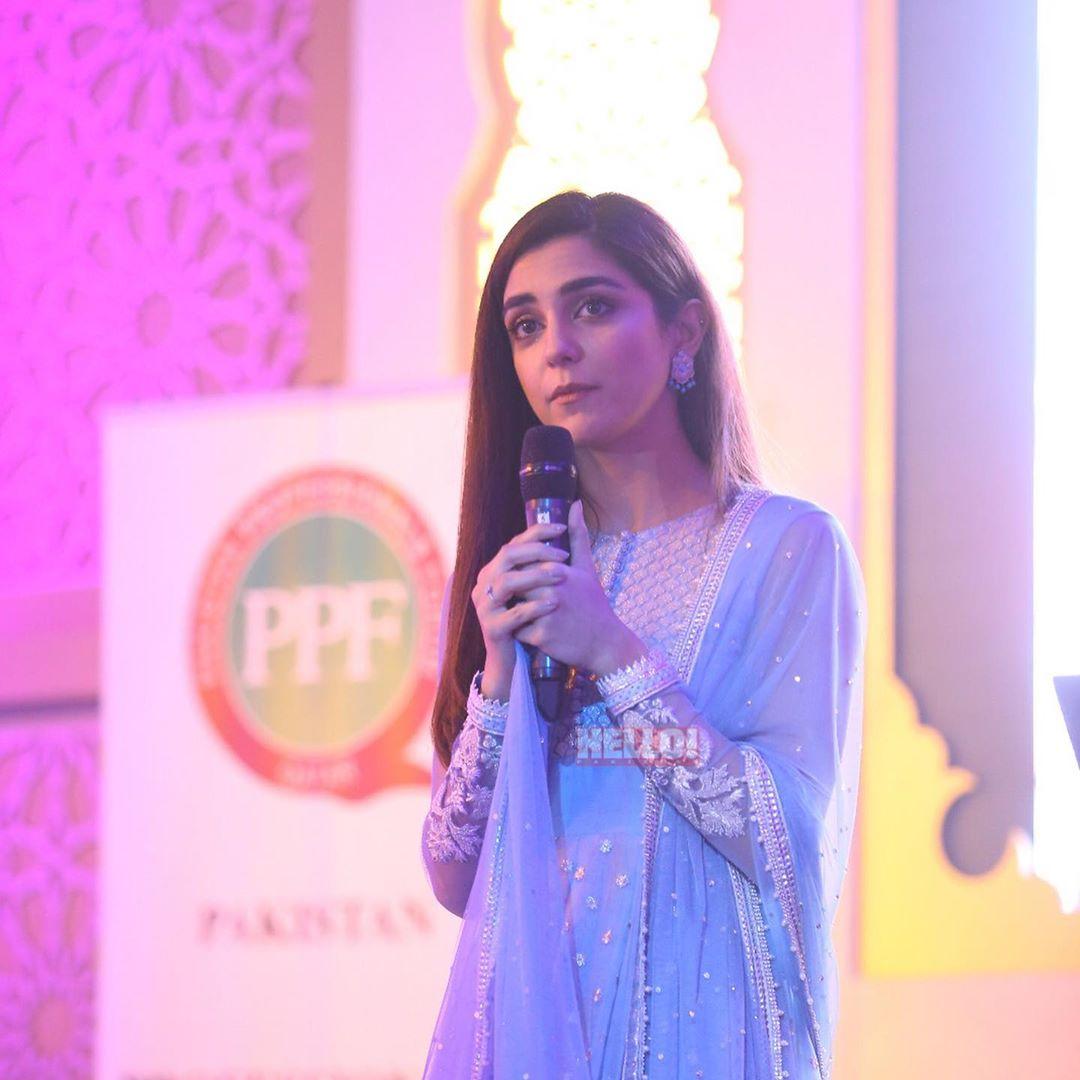 Actress Maya Ali Looking Gorgeous at Shoukat Khanum Fund Raising in Doha