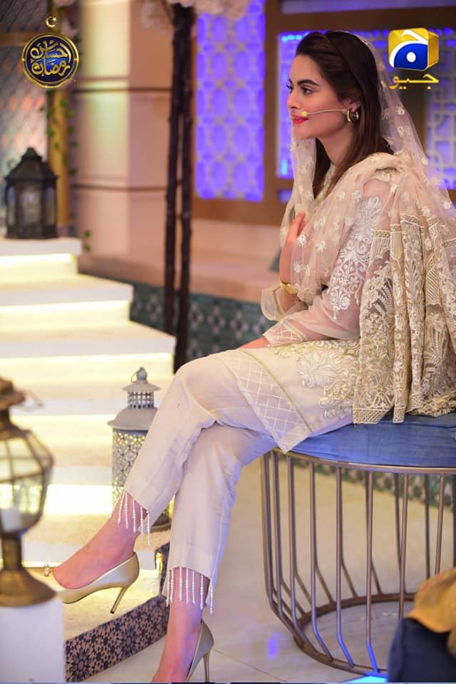 Minal Khan with Her Mother in Ramzan Transmission 2019