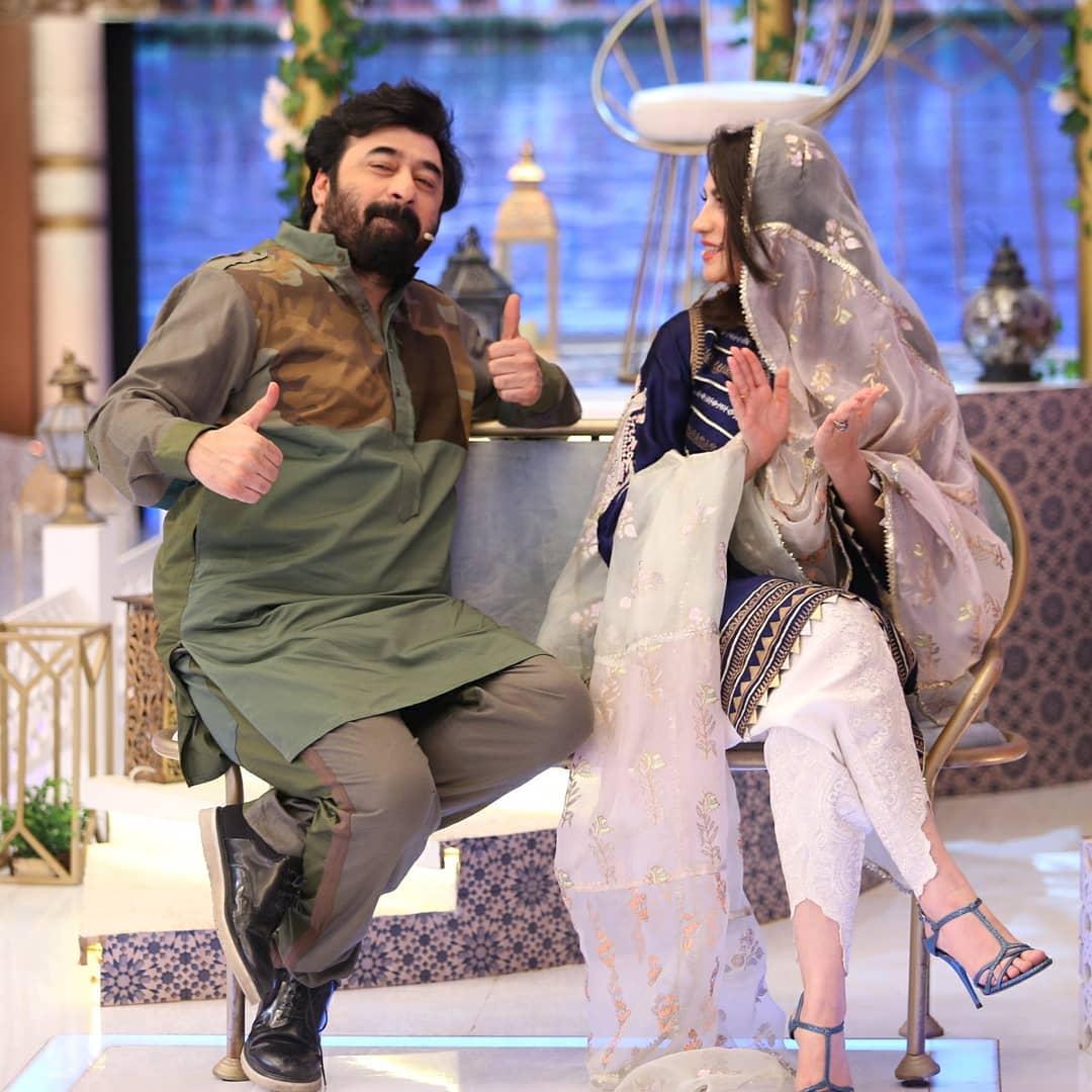 Beautiful Neelum Muneer and Yasir Nawaz in Ehsaas Ramzan Transmission