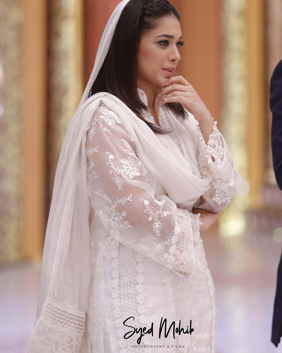 Actors Sanam Jung with Imran Abbas and Javeria in Express Tv Ramzan Transmission