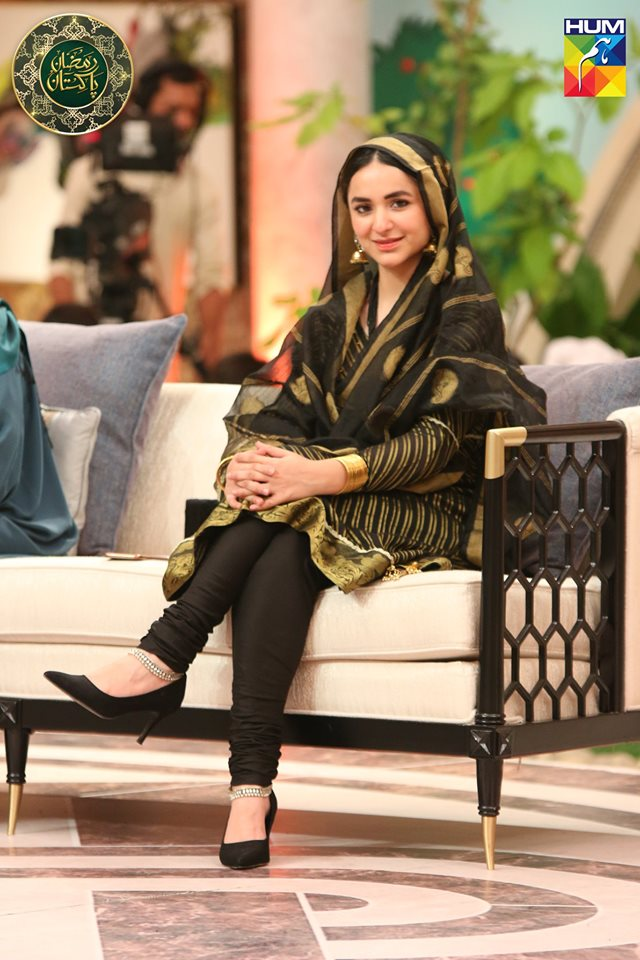 Beautiful Clicks of Actress Yumna Zaidi in Ramzan Pakistan Transmission