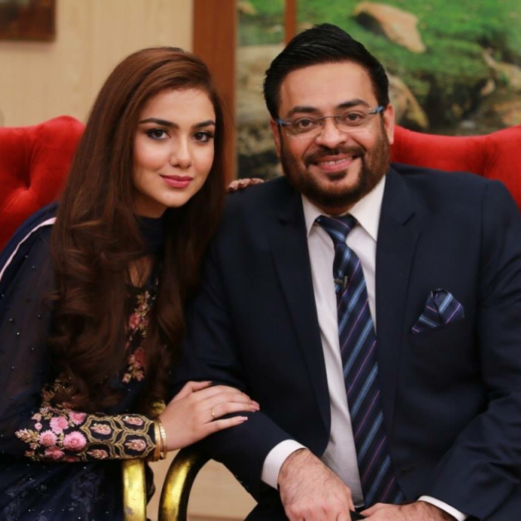 Syeda Tuba Aamir and Aamir liaquat in Hamara Ramazan on PTV News