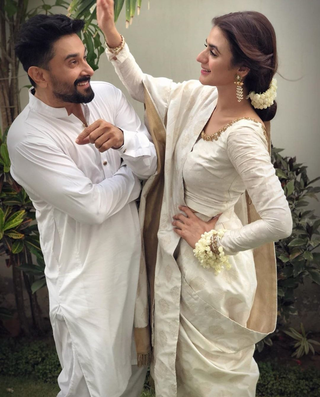 Hira Mani with Her Husband on Eid Day 1