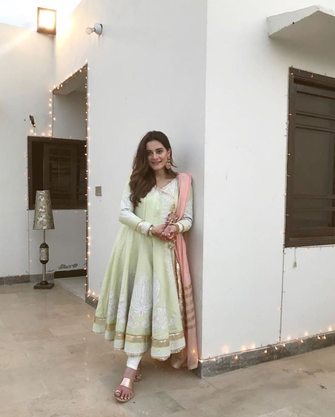 Beautiful & Gorgeous Aiman Khan Clicks on Eid Day1
