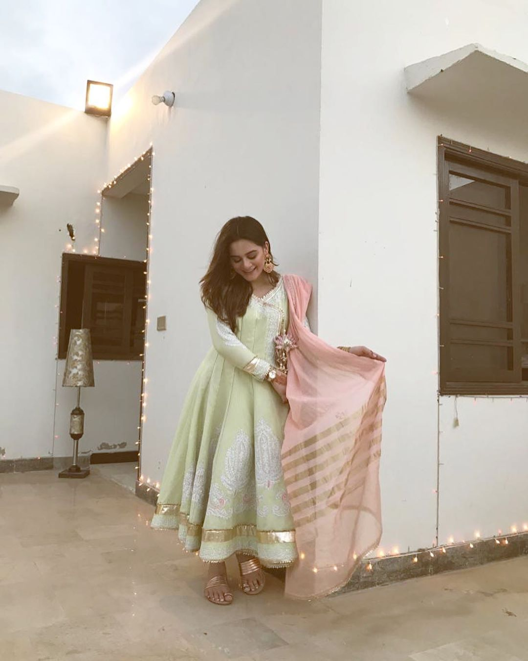 Beautiful & Gorgeous Aiman Khan Clicks on Eid Day1