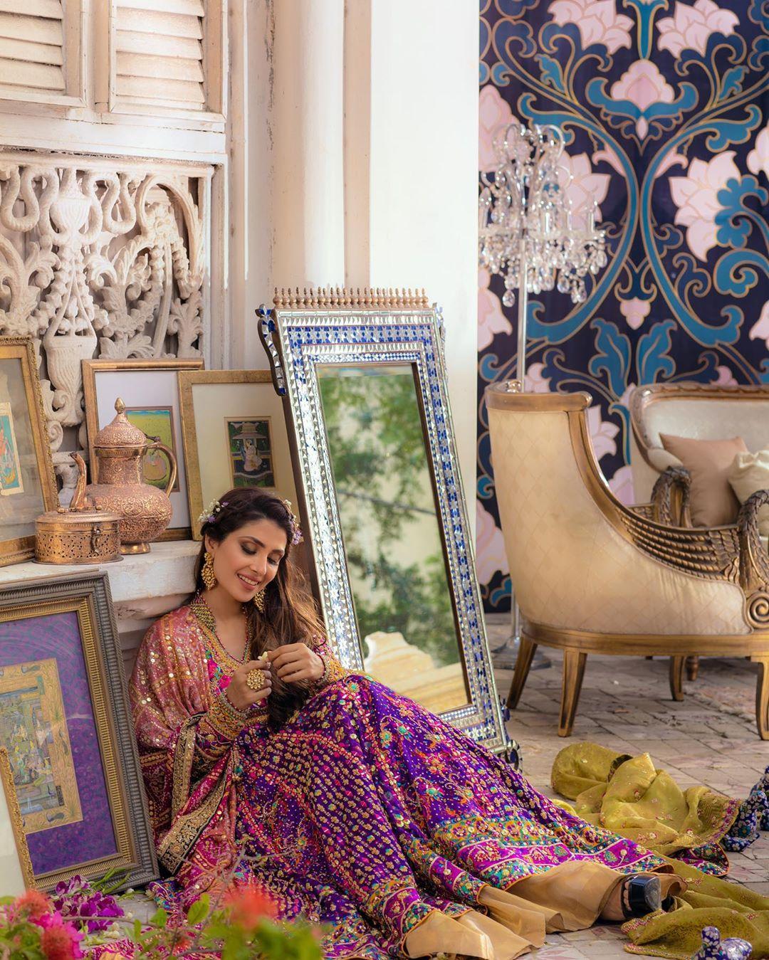 Latest Bridal Photo Shoot of Beautiful Actress Ayeza Khan for Farah Talib Aziz
