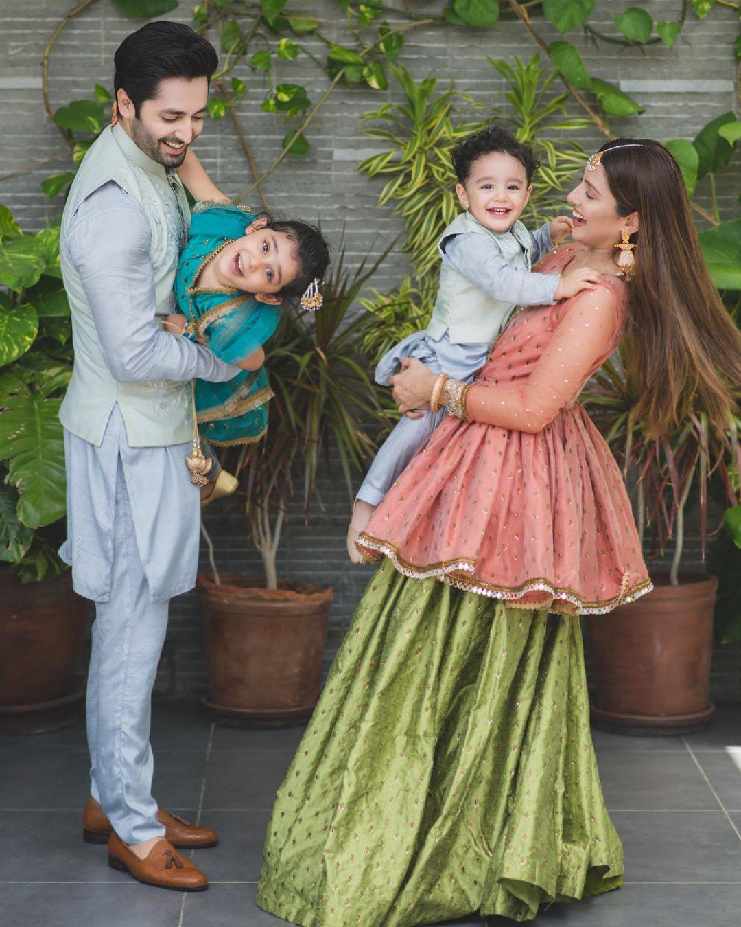 Ayeza Khan & Danish Taimoor's Beautiful Clicks on Eid with Family
