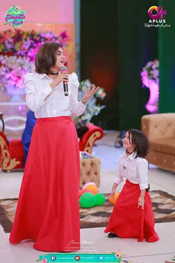 Fiza Ali with her Beautiful Daughter on sets of Ek Naye Subha with Farah