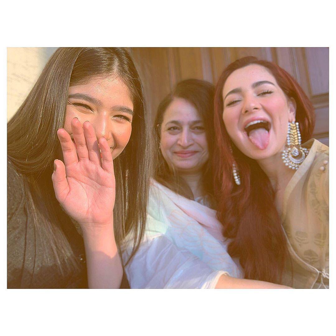 Gorgeous Hania Amir on Eid Day with Family