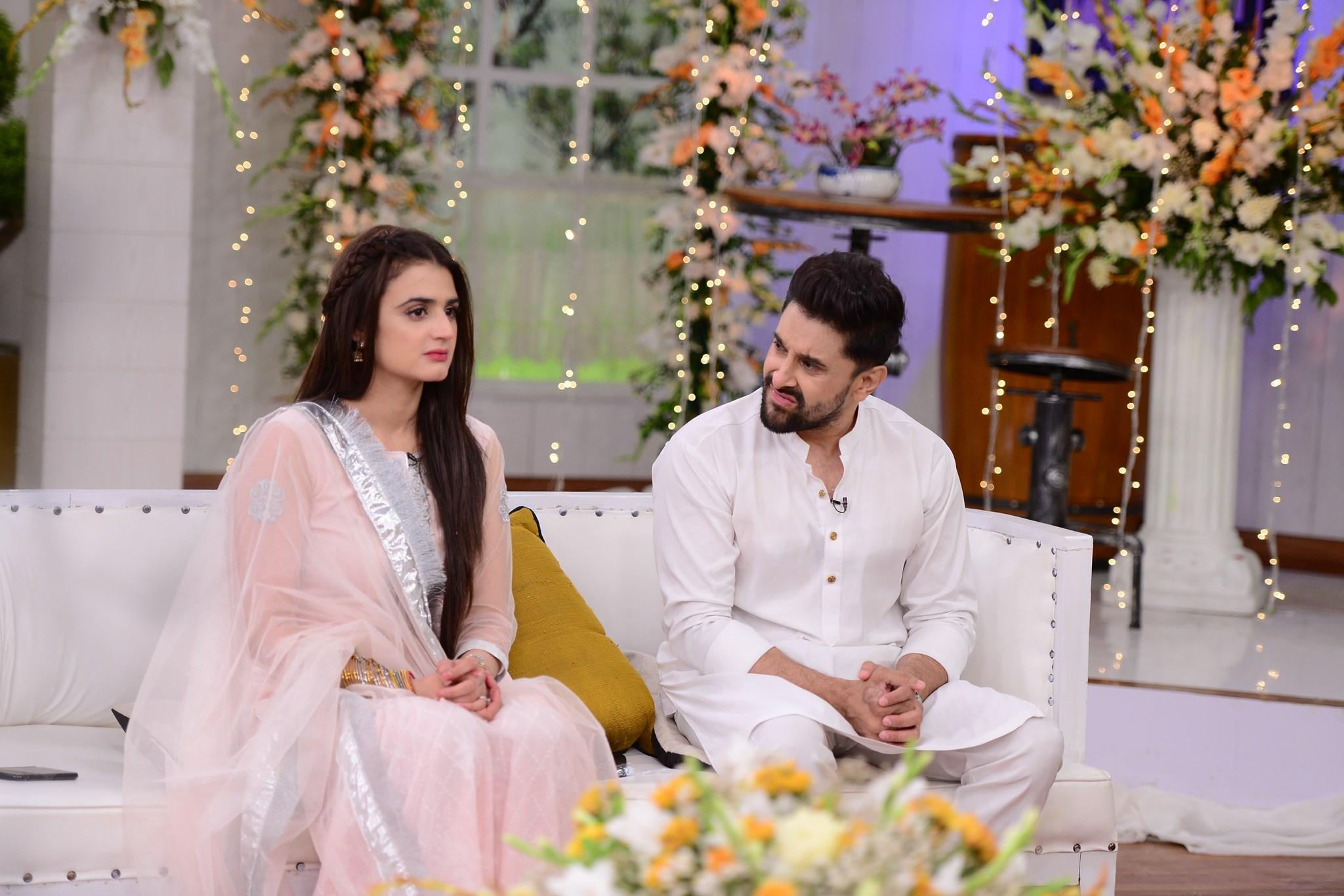 Beautiful Romantic Couple Hira & Mani in Good Morning Pakistan
