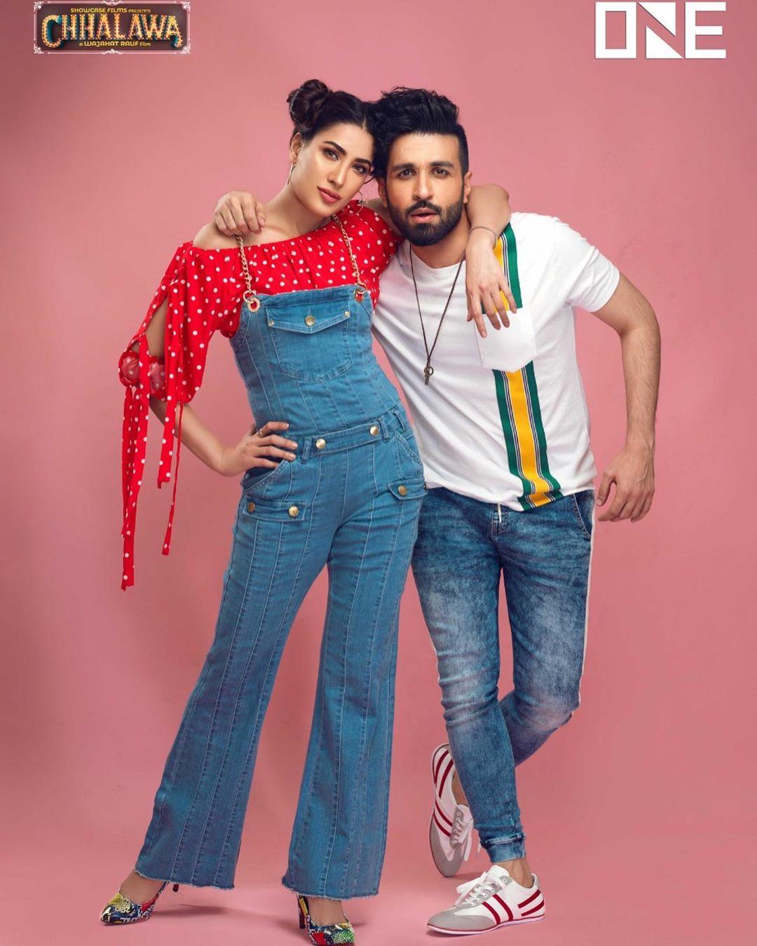 Mehwish Hayat & Azfar Rehman Photoshoot for a Clothing Brand