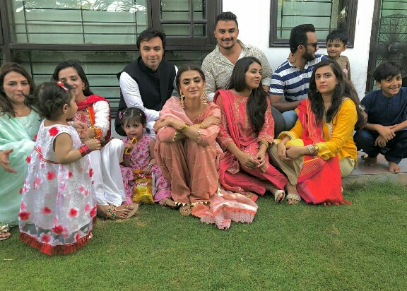 Hira Mani Spending Eid With Family