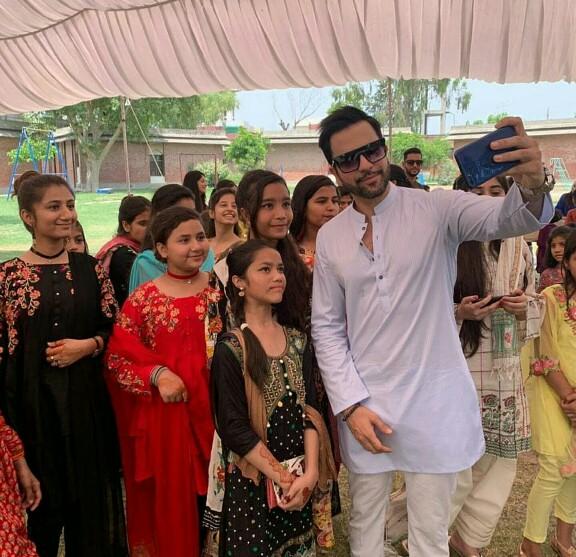 Junaid Khan Spent Eid At SOS Village