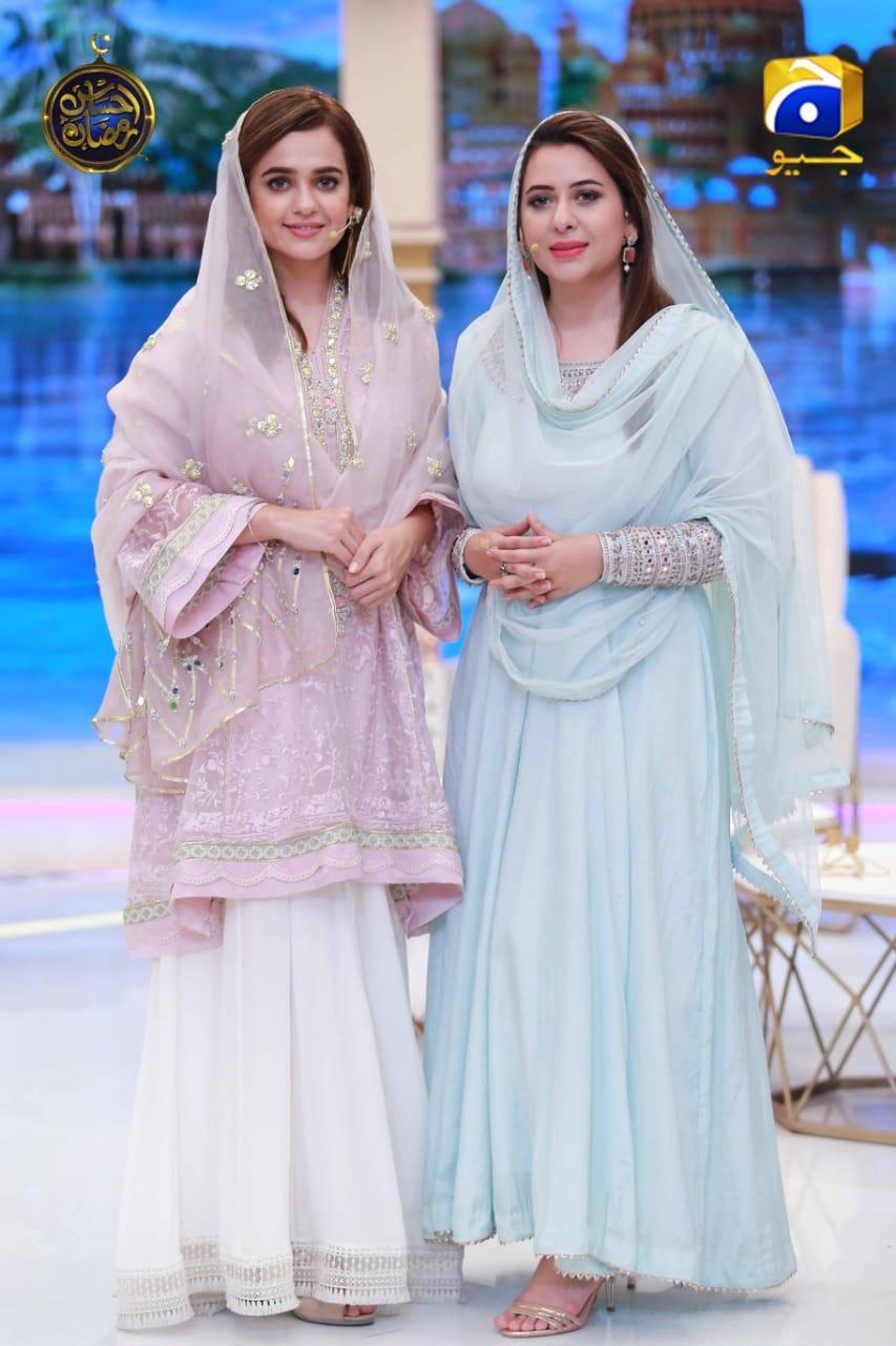 Beautiful Actress Sumbul Iqbal in Ehsaas Ramzan Transmission