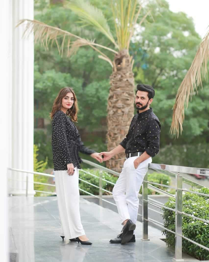 Beautiful Couple Uroosa & Bilal Qureshi in Morning Show