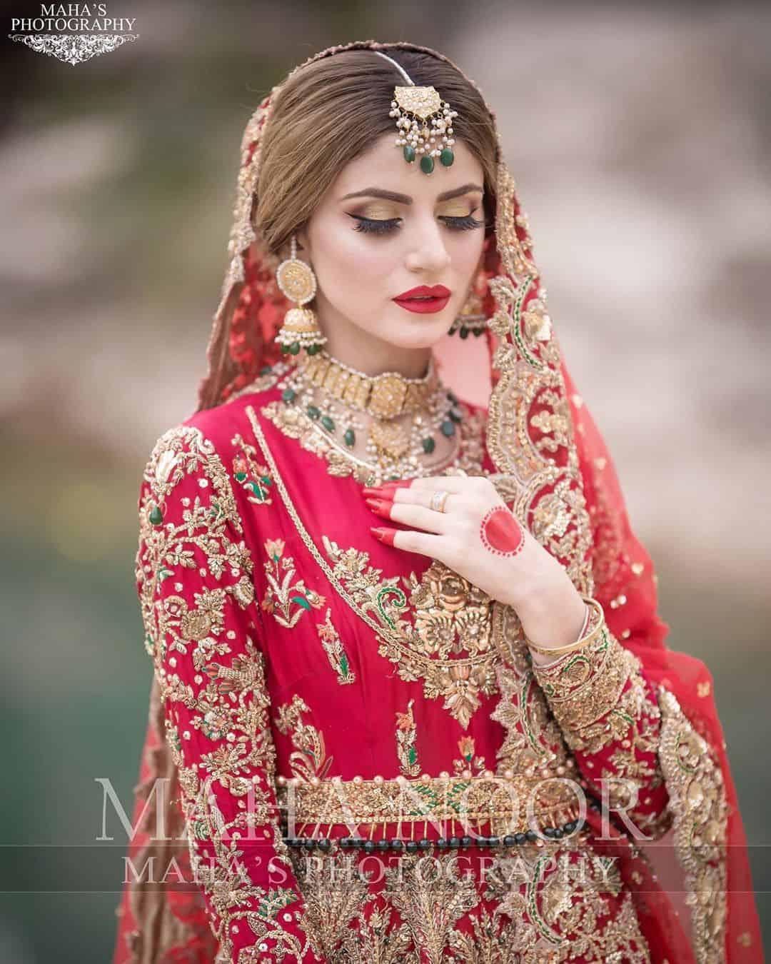 Bridal Photo Shoot of Beautiful Actress Zubab Rana