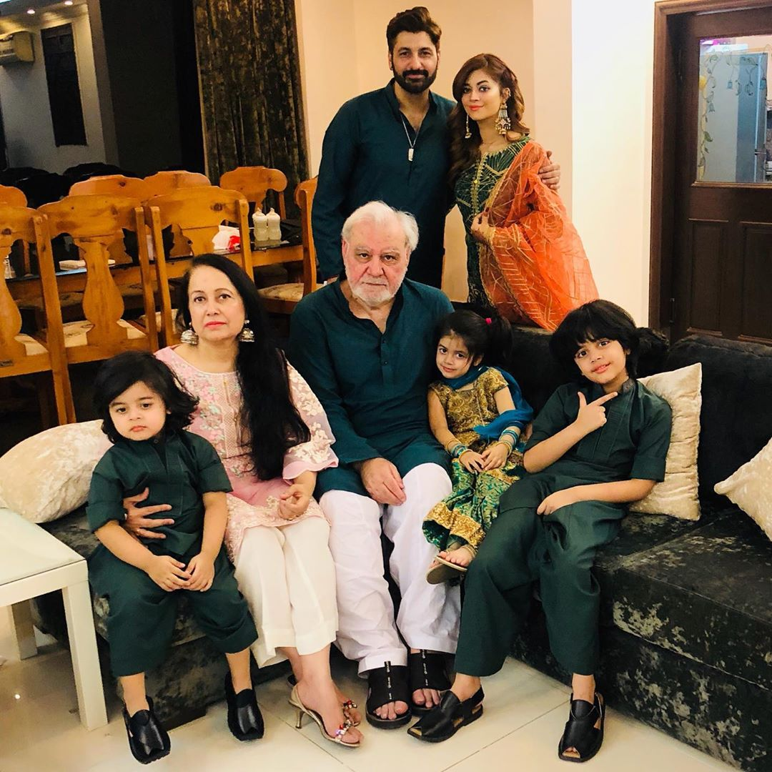 Actor Syed Jibran with his Beautiful Family on Eid