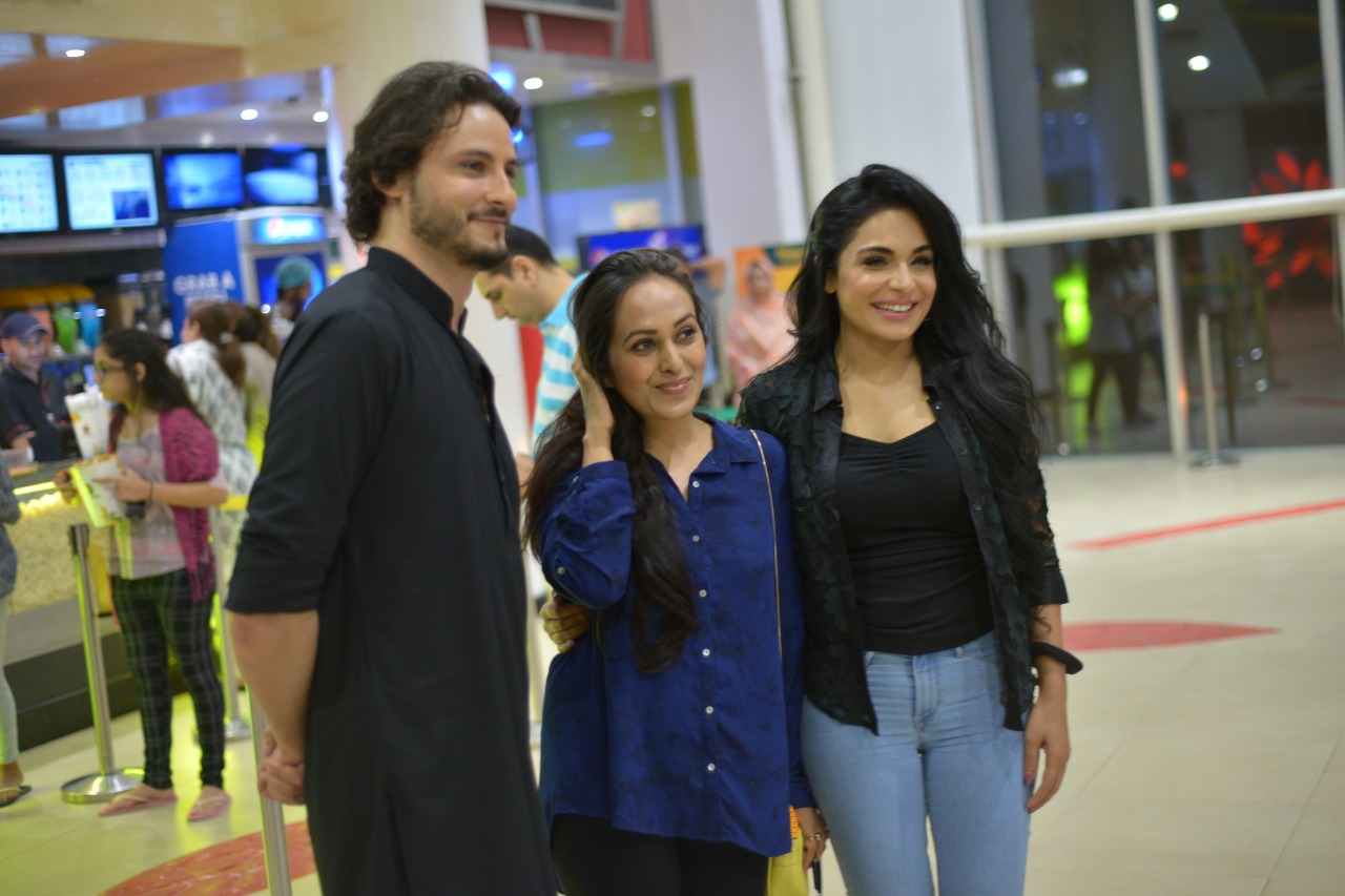 "Actor Osman Khalid Butt and Meera at Promotion of their Upcoming Movie ""Baaji"""