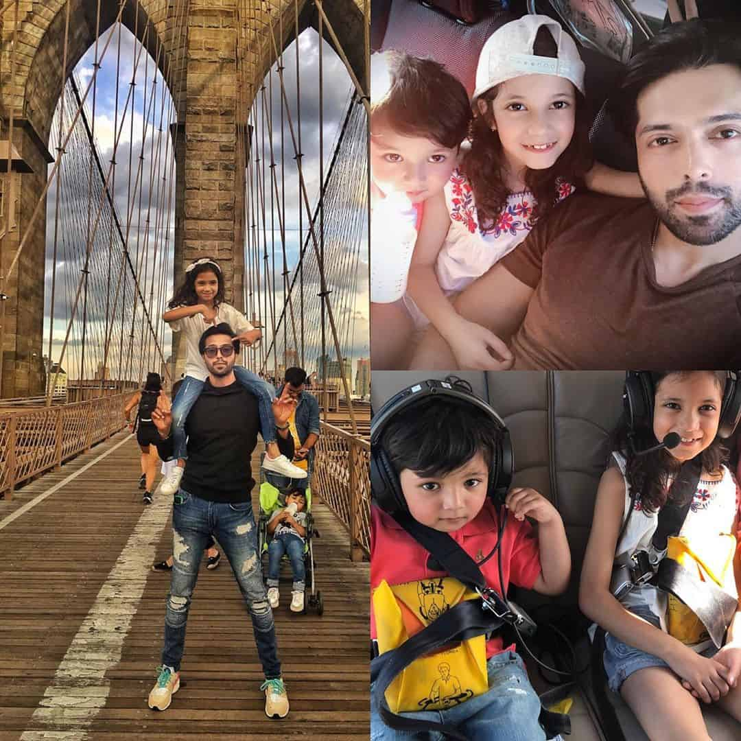 Latest Pictures of Fahad Mustafa in USA with Family