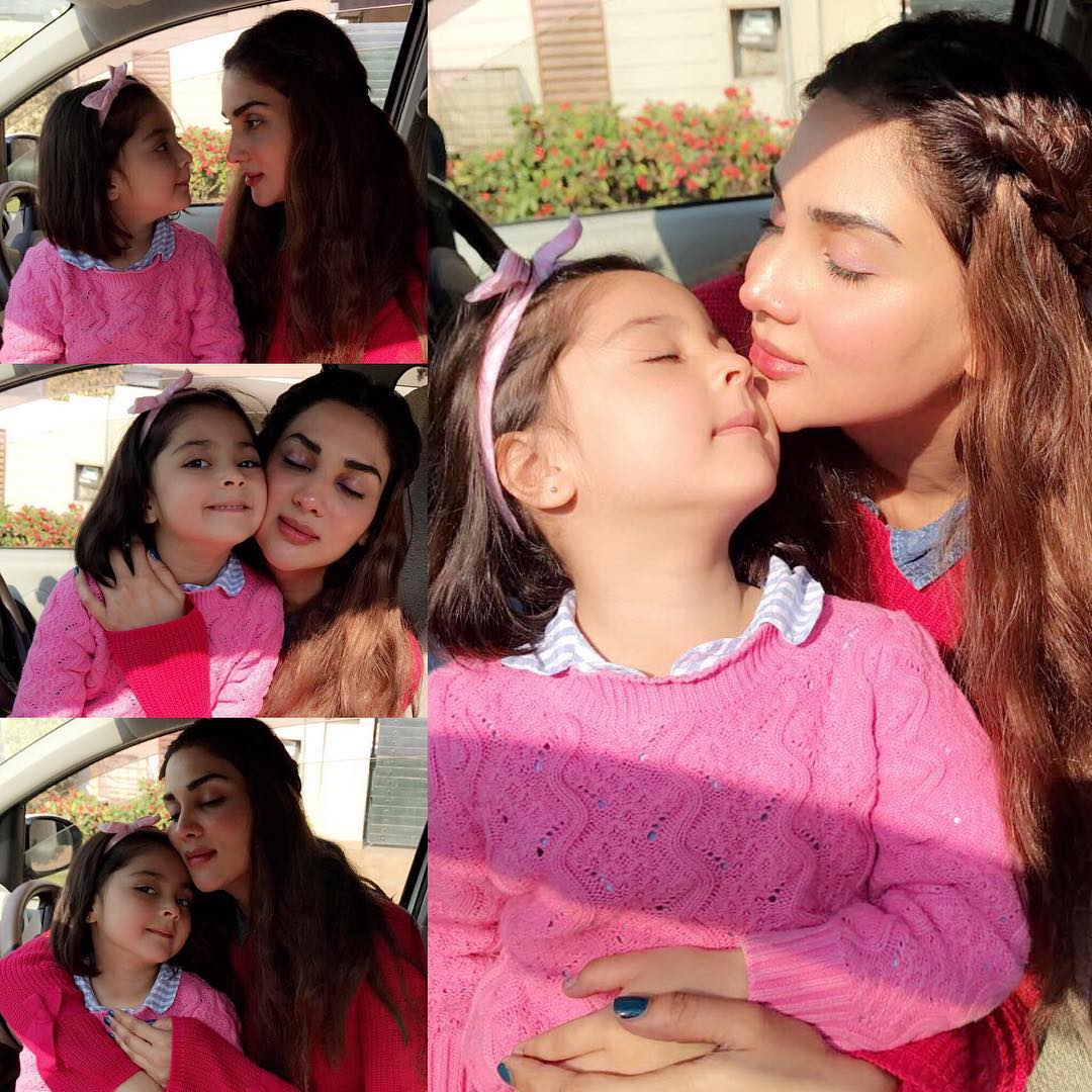 Beautiful Pictures of Actress Fiza Ali with her Daughter Faraal