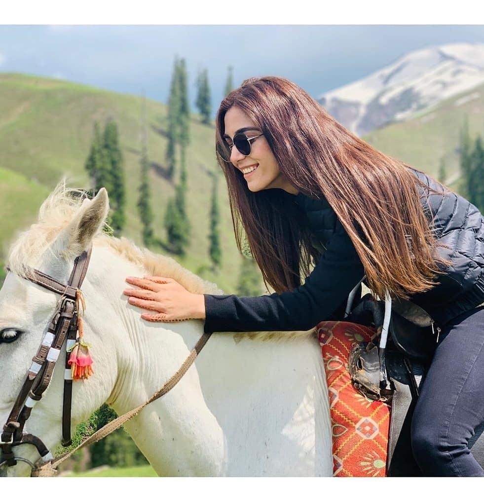 Latest Beautiful Clicks of Maya Ali in Northern Areas of Pakistan