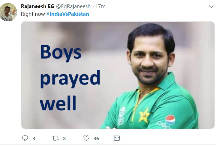 Top 30 Best Memes From India VS Pakistan World cup 2019 Match