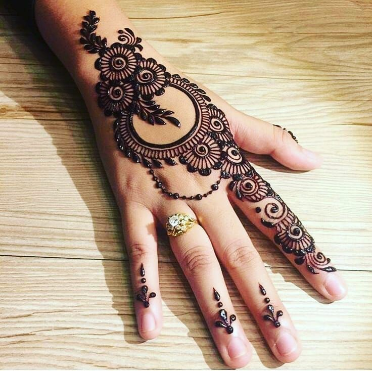 Black Mehndi Designs 1