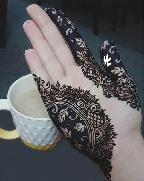 Black Mehndi Designs 10