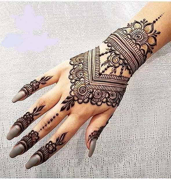Black Mehndi Designs 11