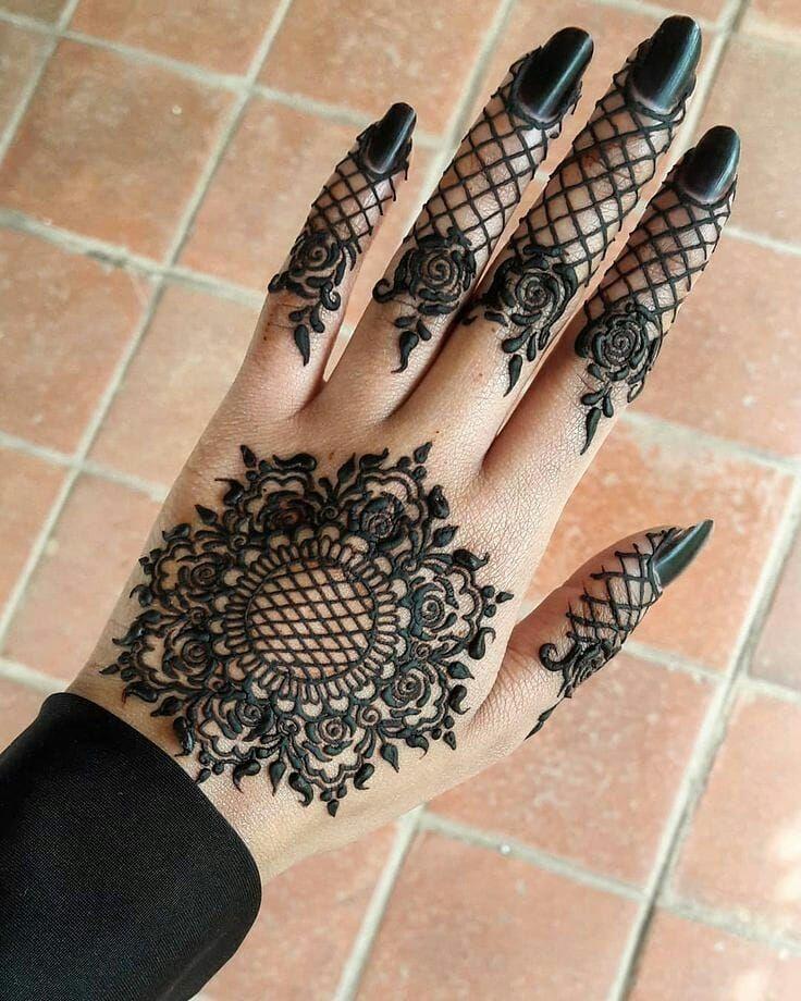Black Mehndi Designs 13