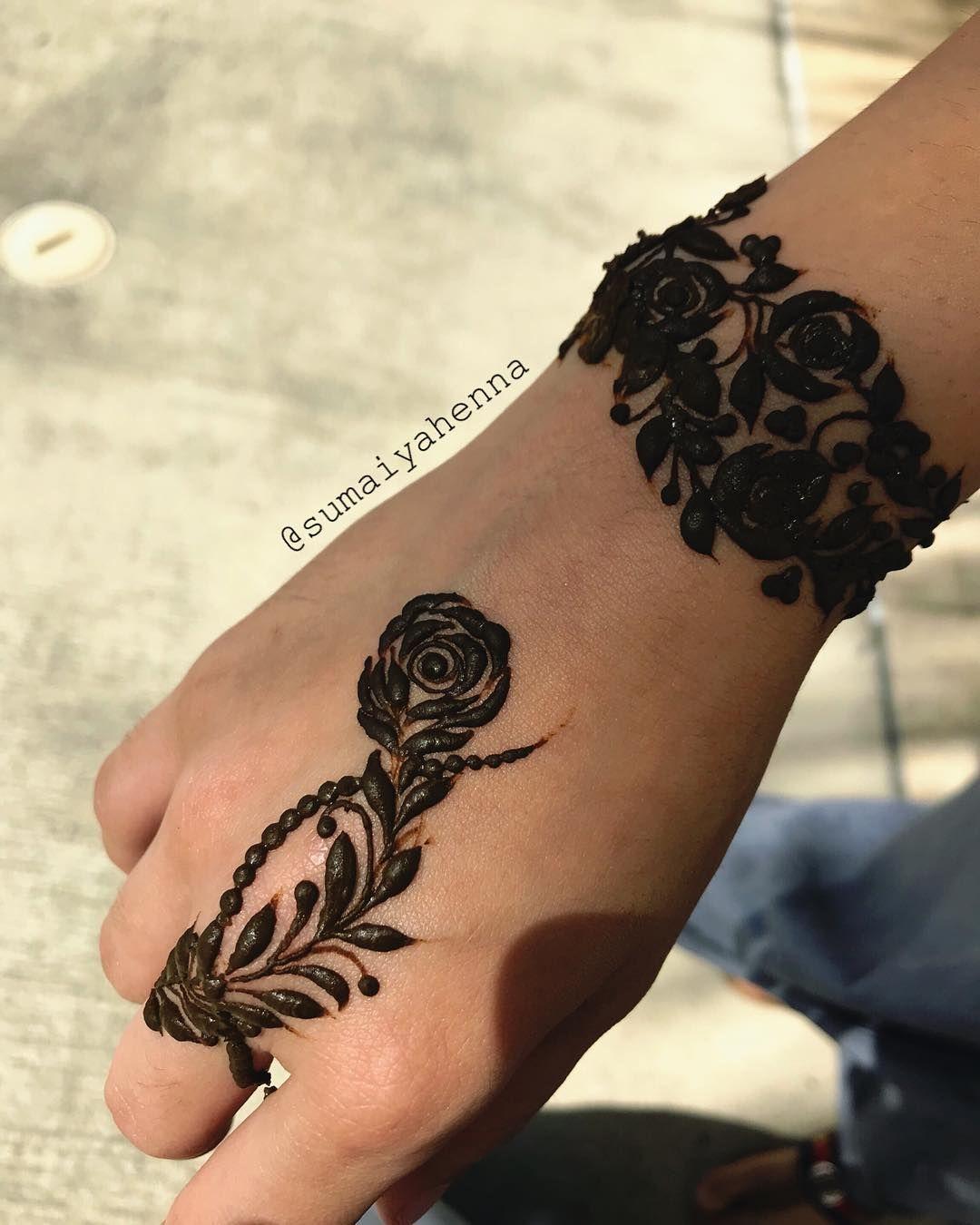 Black Mehndi Designs 14