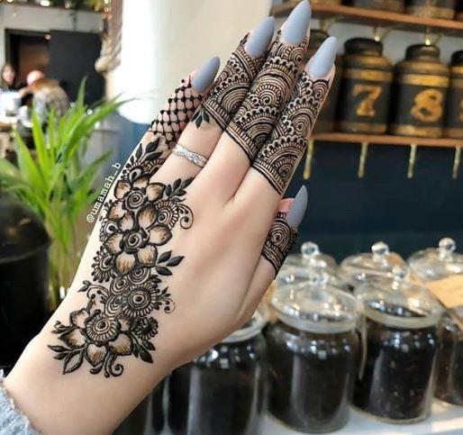 Black Mehndi Designs 15