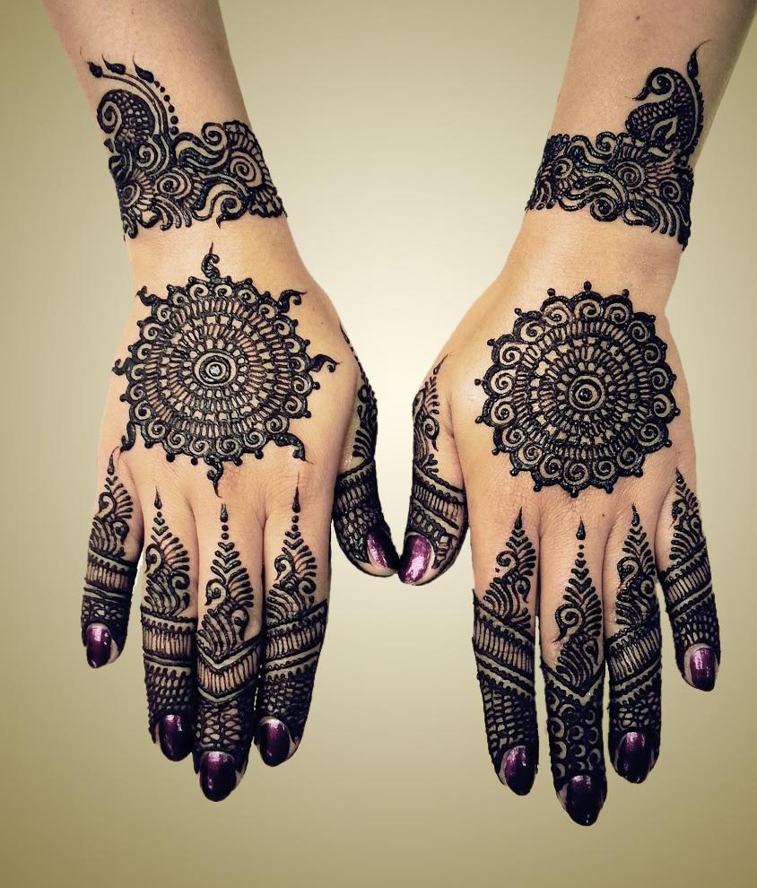 Black Mehndi Designs 16