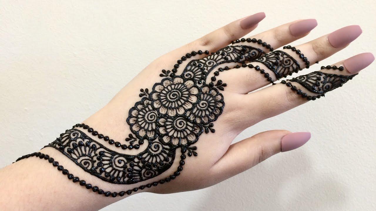 Black Mehndi Designs 4